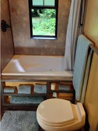 amazing tiny house toilets black frame window marble painted wall