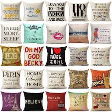cushion cover home sweet pillow case cotton linen sunshine love cushion cover home sweet pillow case cotton linen sunshine love letter cushion sofa bedroom decorative pillow