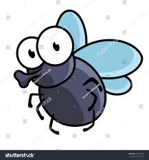 Tiny Flying Insects In House by Cute Little Cartoon Fly Insect Blue Stock Vector 249374500