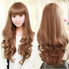 hair style fashion for fat ladies new fashion hairstyle high quality long curly wig girls fluffy make