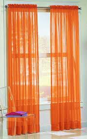 Burnt Orange Curtains Unique Curtains Pocket Curtain Panels Set Of By Basics X Sheer