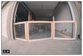 garage door dog gate
