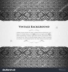 Black Card Invitation Vector Invitation Silver Black Card Vintage Stock Vector 444219304