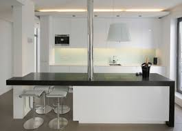 black u0026 white kitchen island dining bar modern apartment in