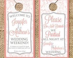 wedding door hanger template wedding door hangers do not disturb signs guest bags