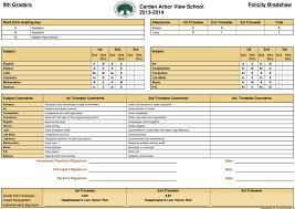 report card format template student report card template resume builder