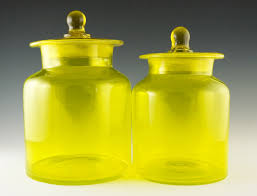 glass kitchen canister set vintage kitchen canister set in lemon yellow retro glass