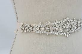 bridal sash rhinestone applique wedding applique bridal sash bridal