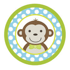 amazon com mod monkey boy blue u0026 green edible cake topper