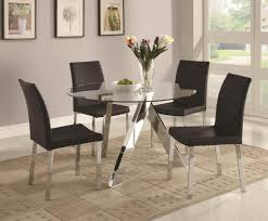 dinning round glass table top round wood dining table glass