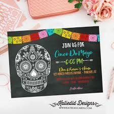 papel picado invitation halloween sugar skull fiesta bridal shower
