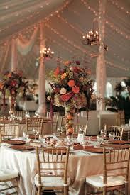 Tall Glass Vase Centerpiece Autumn Inspired Golf Club Wedding In South Carolina Inside Weddings
