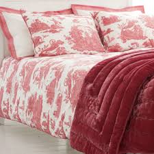 red toile bedroom ideas for basement bedrooms