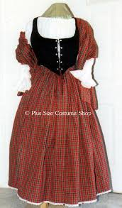 Scottish Halloween Costume Renaissance Scottish Lass Dress Packages Size Super