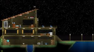 starbound houses saw u mooply and his cool beachside house made one for myself