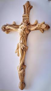 carved wooden crosses vintage crafted olive wood cross made and carved by holy land