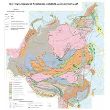 Central Asia Map by Tectonic Map Of Northern Central And Eastern Asia Ccgm Cgmw