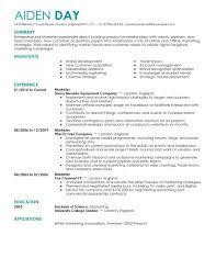 resume summary exles marketing marketing resume exles marketing sle resumes livecareer