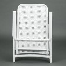 Reclining Patio Chairs Reclining Outdoor Folding Patio Chair Bianco