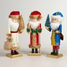 world santa nutcrackers set of 3 world market