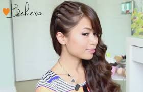 side swoop hairstyles step by step tutorial for twisted side swept hairstyle