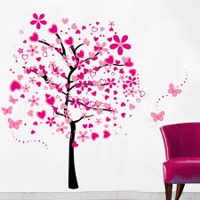 popular peach butterfly buy cheap peach butterfly lots from china 7165 big size peach love flower butterfly wall sticker bedroom decal art diy home decor removable