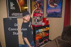 home theater stand diy home theater concession stand youtube