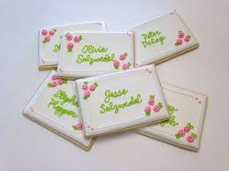 place cards for wedding place card cookies almost