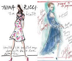 kate middleton u0027s maternity wardrobe designers sketch for
