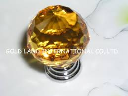 d40mm free shipping amber crystal glass furniture knobs crystal