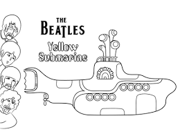 beatles yellow submarine cover art coloring free
