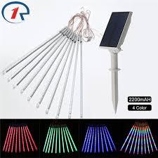 outdoor string lights rain zjright 50cm solar meteor lights rain tubes christmas outdoor