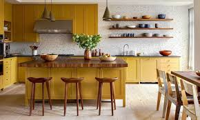 yellow kitchen wood cabinets 34 stylish yellow kitchen ideas designs pictures