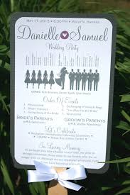 country wedding programs paddle fan country silhouette wedding by simpleandstunning2