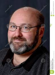 hair middle aged man dark smiling bald bearded man stock photo image of bald attractive