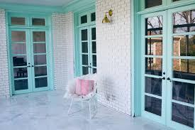 white painted brick kitchen top home design
