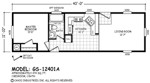 Cavco Floor Plans Floor Plan Gs 16441a Gs Single Section Homes By Cavco West