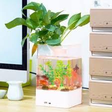 aquarium bureau réservoir de poissons en acrylique de bureau usb mini aquarium