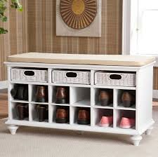 white hallway bench with shoe storage complete with drawers home