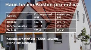 baukosten pro qm wohnfläche hausbau kosten 2015 pro m2 qm m3 baukostenrechner baukosten für