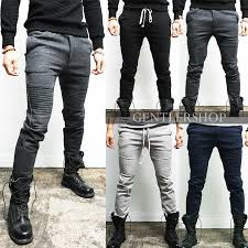 designer sweatpants mens fashion designer slim fit seaming biker sweatpants 4 colors