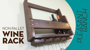 tips rustic wine rack diy stemware rack pallet wine rack