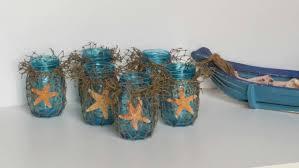 nautical home decor blue mason jars fish net u0026 sugar