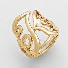 Monogram Initial Ring Initial Ring Letter K Ebay