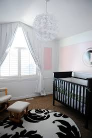 Pink And White Nursery Curtains by Baby Nursery Comely Baby Nursery Room Design With Blackout Shades