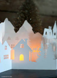 Christmas Town Decorations Paper Cut Winter Village For Your Holiday Decorations