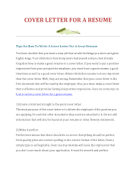 cover letter how do you do a cover letter for a resume how do you