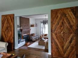 Bedroom Barn Door Hand Made Solid Reclaimed Wood Barn Doors Diamond Mosaic By