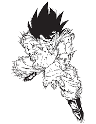dragon ball goku fireball coloring u0026 coloring pages