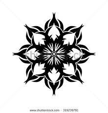 blackwork tattoo flash peony flower deer stock vector 428695813